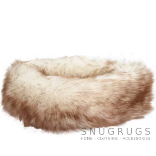 Alexi - Ladies Long Sheepskin Ski Headband - Natural Tipped