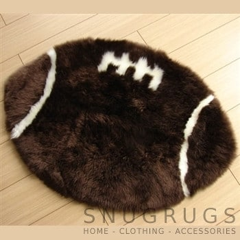 Sheepskin Rugby Ball Rug
