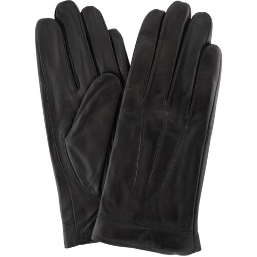 Mavis - Leather Gloves Three Point Stitch - Black