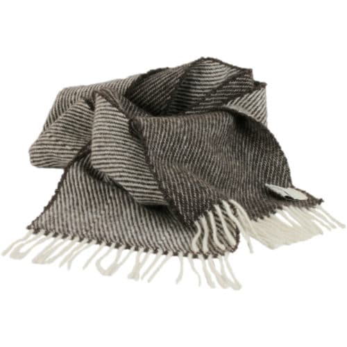 Romney Marsh Sheep Scarf - Black Thorn