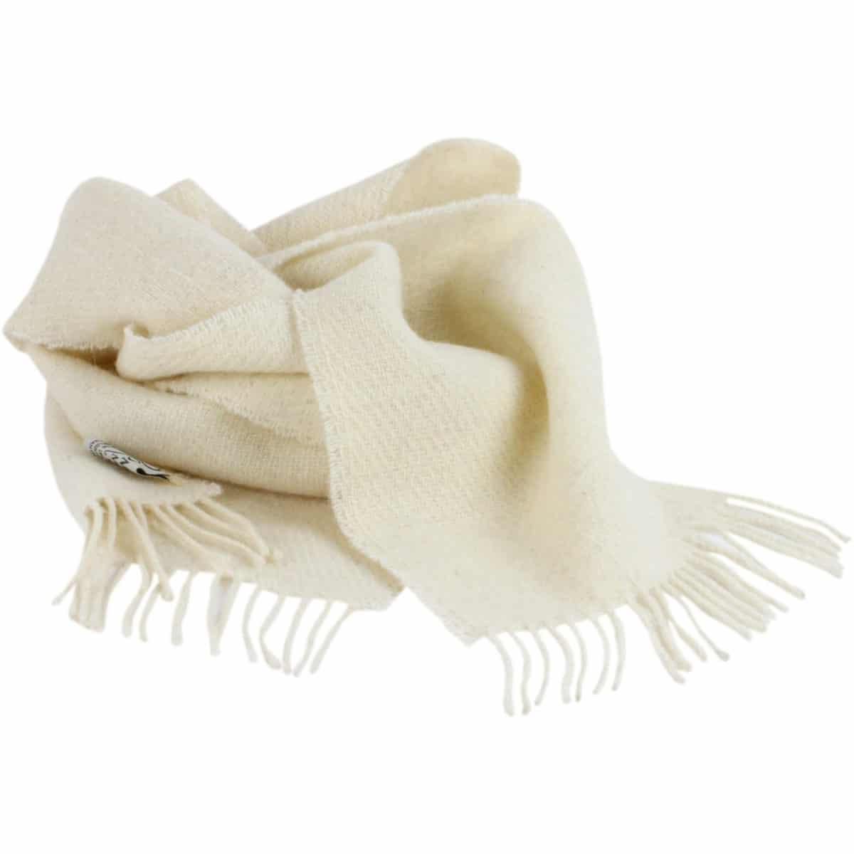 Romney Marsh Sheep Scarf - White Clover