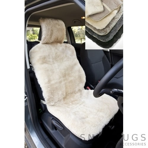 Sheepskin Car Seat Cover - Available in 4 Colours
