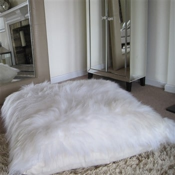 Bowron Sheepskin Floor Cushion - Long Wool