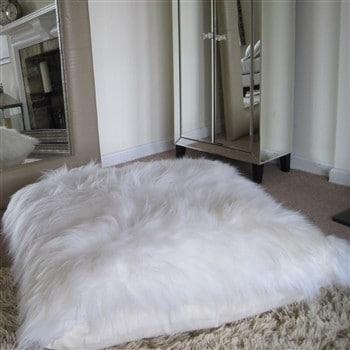 Bowron Sheepskin Floor Cushion - Long Wool