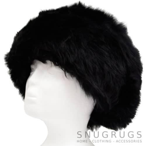 Fern - Ladies Full Sheepskin Hat - Black