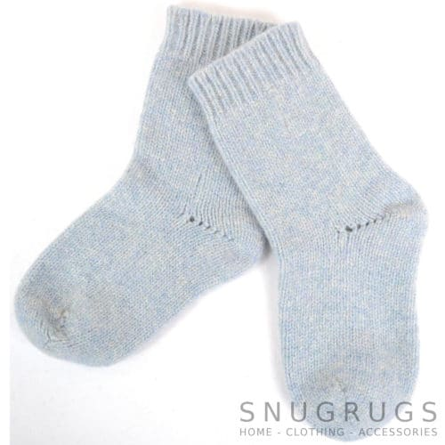 Pure Wool Walking Socks - Sky Blue