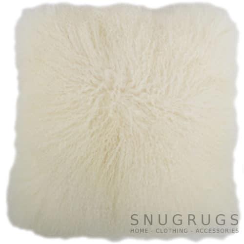 Snugrugs Mongolian Sheepskin Cushion 60cm x 60cm – Ivory