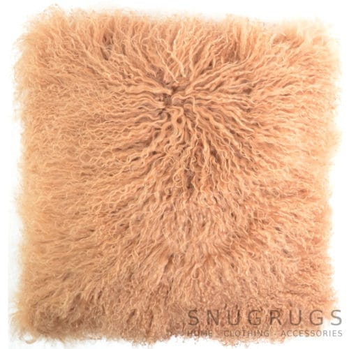 Snugrugs Mongolian Sheepskin Cushion 40cm x 40cm – Taupe