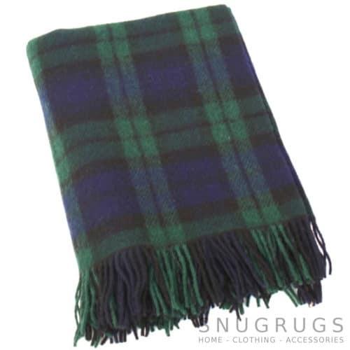 Wool Blanket - Navy Tartan