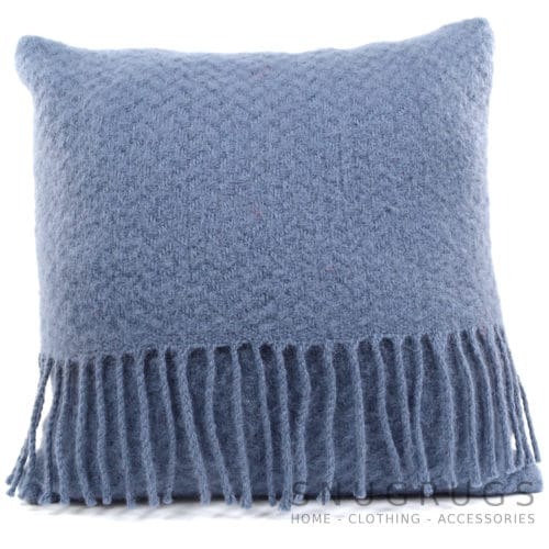 Wafer Wool Cushion - Blueberry