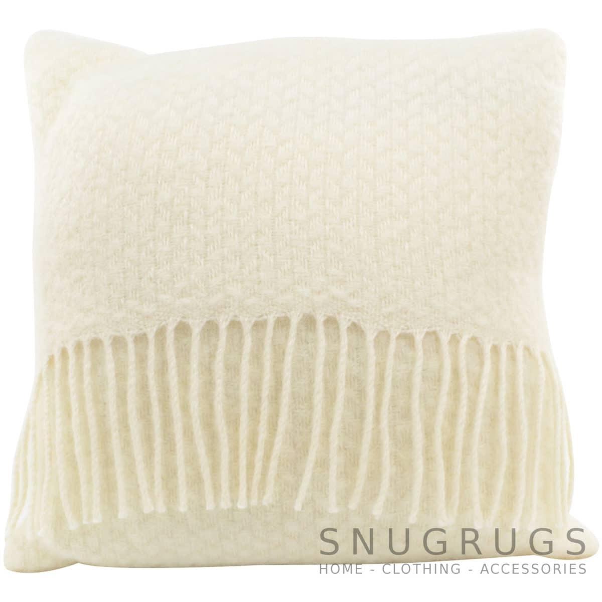 Wafer Wool Cushion - Cream