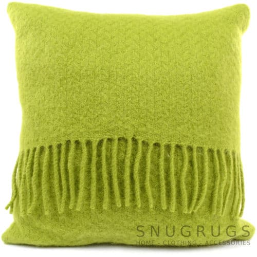 Wafer Wool Cushion - Grass Green