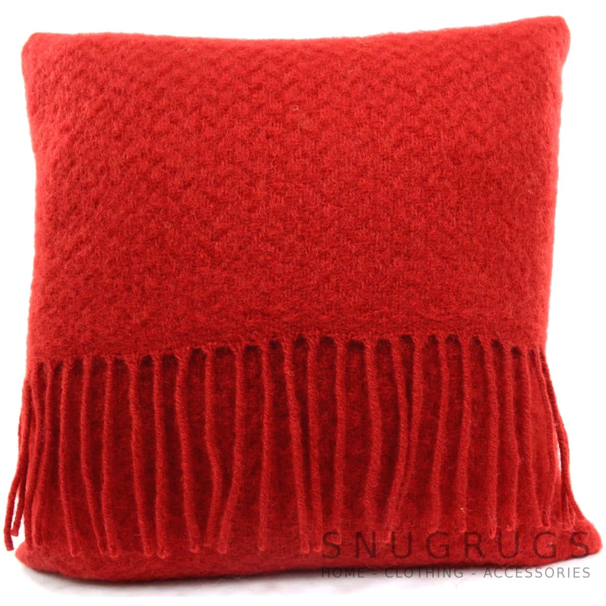 Wafer Wool Cushion - Red
