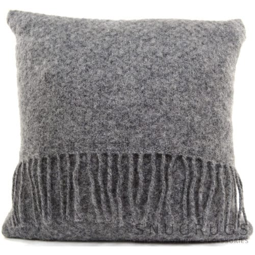 Wafer Wool Cushion - Grey Slate