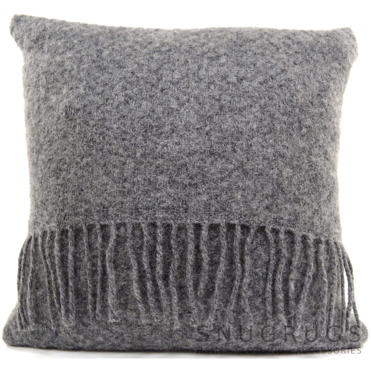Wafer Wool Cushion - Grey Slate