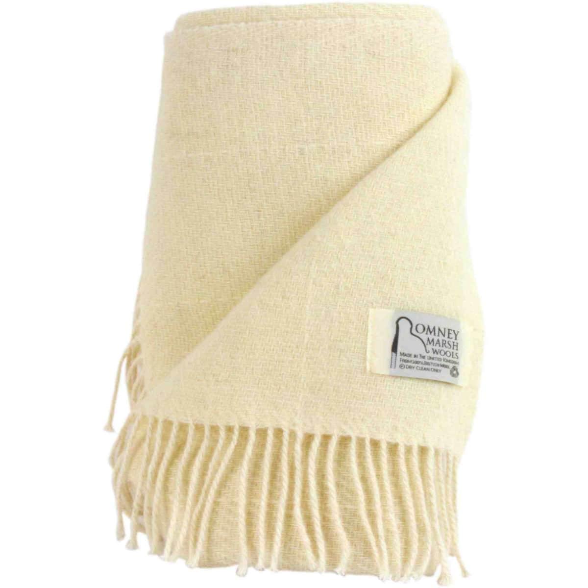 Romney Sheep Blanket / Throw - White Clover