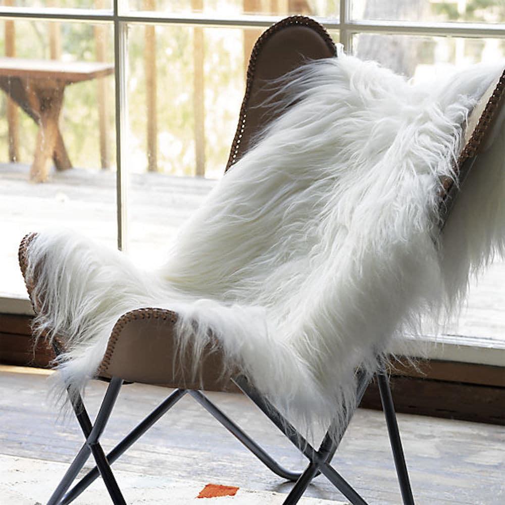 Icelandic White Sheepskin Rug