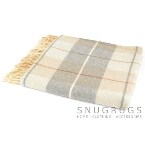 Lambswool Blanket / Throw - Cool Grey