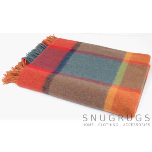 Lambswool Blanket / Throw - Autumn Sunset