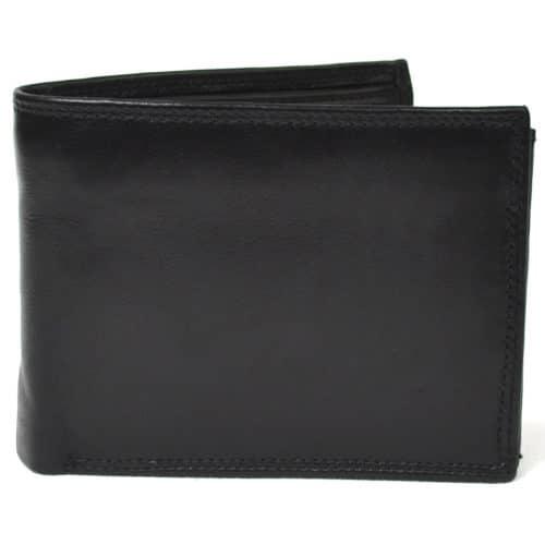 Sam - Prime Hide Leather Tri-Fold Wallet - Black