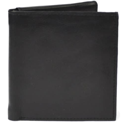 Theo - Prime Hide Slim Leather Wallet - Black
