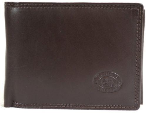 Soft Leather Tri-Fold Wallet - Dark Brown