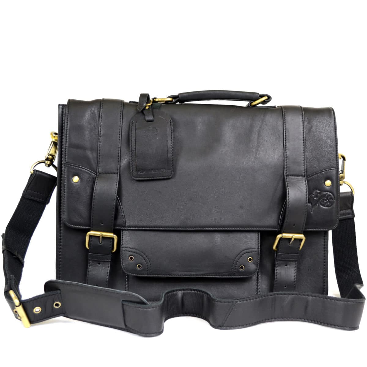 Leather Briefcase - Black