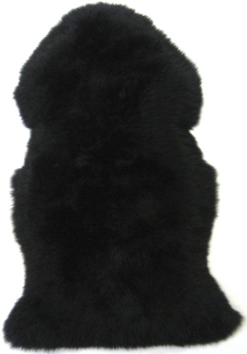 SNUGRUGS Black Sheepskin Rug