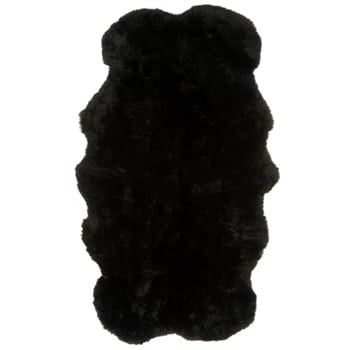 SNUGRUGS Black Quad Sheepskin Rug