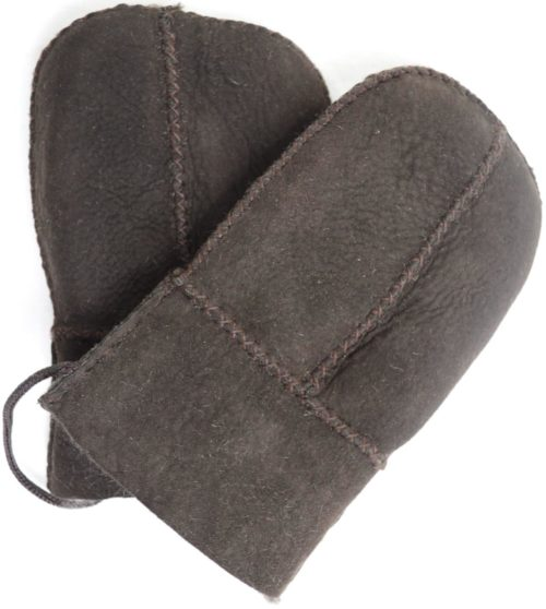 Sheepskin Baby Mittens - Brown