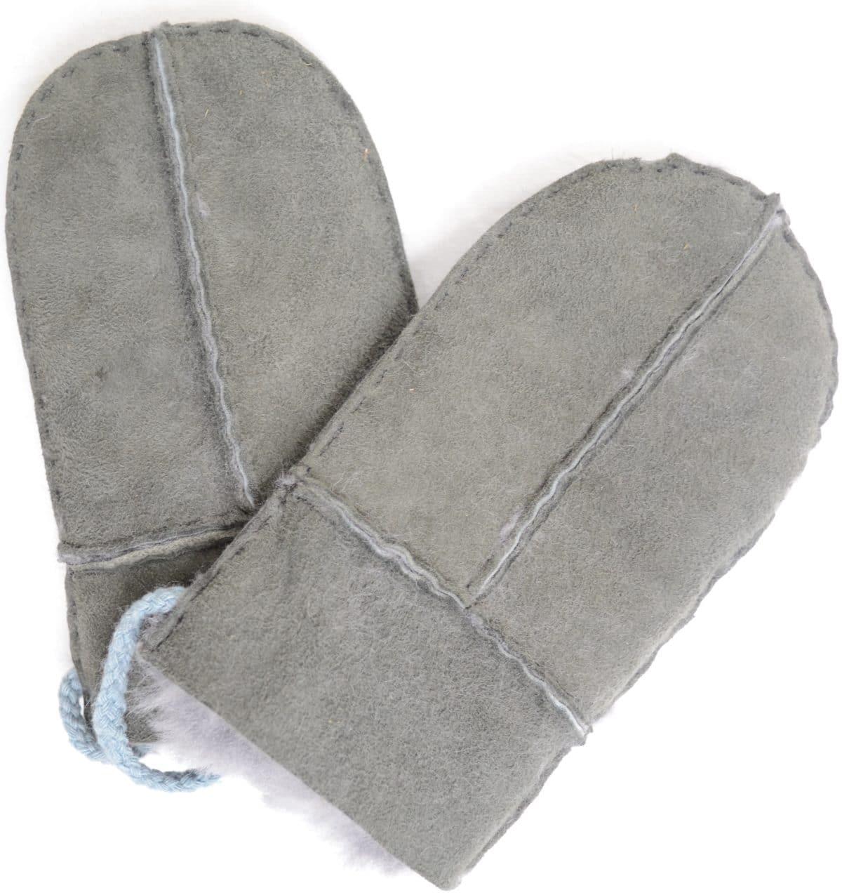Sheepskin Baby Mittens - Charcoal