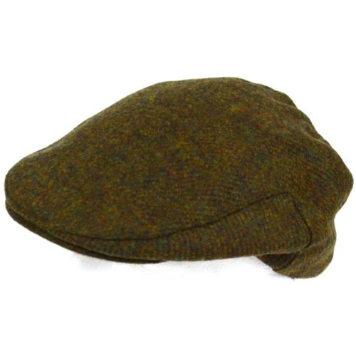 Tweed Shooting Flat / Peak Cap - Green Moss