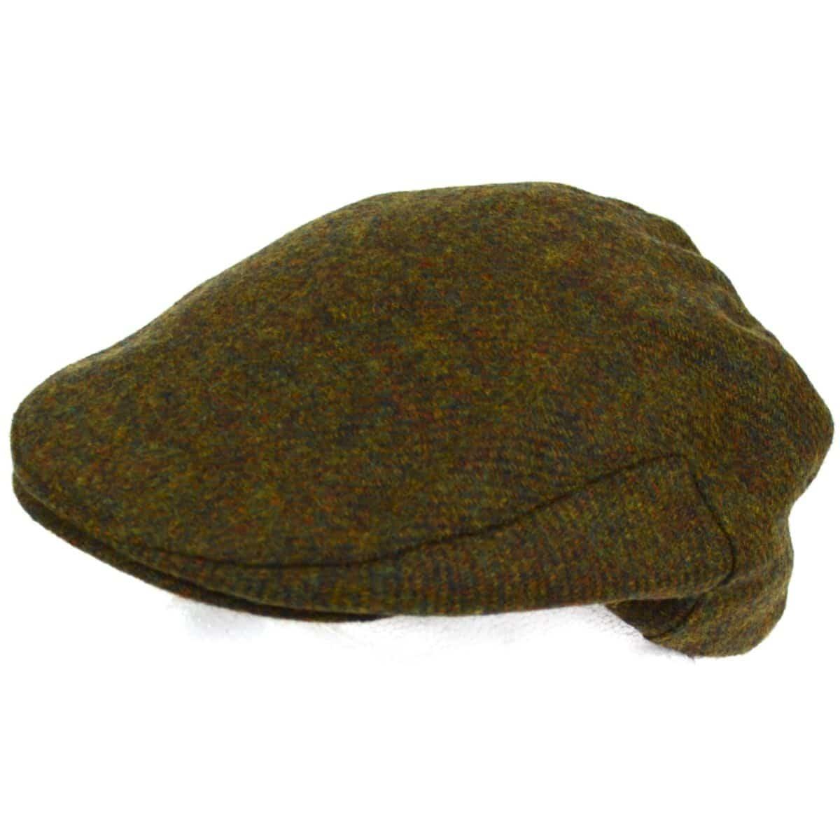 Tweed Shooting Flat / Peak Cap - Green Moss