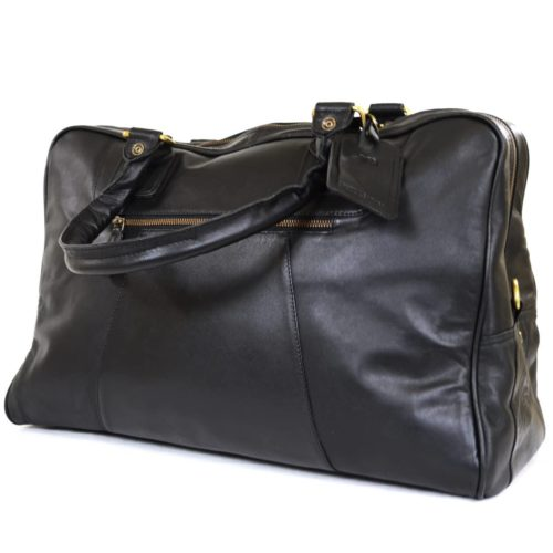 Leather Holdall - Black