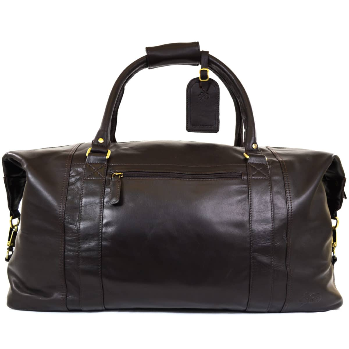 Unisex Leather Holdall - Brown