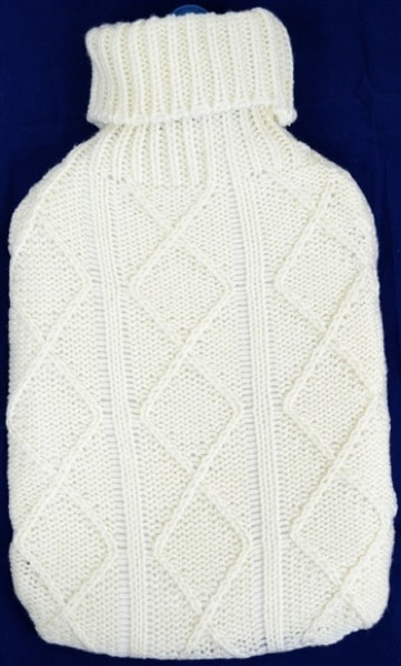 Aran Knit Hot Water Bottle Cover