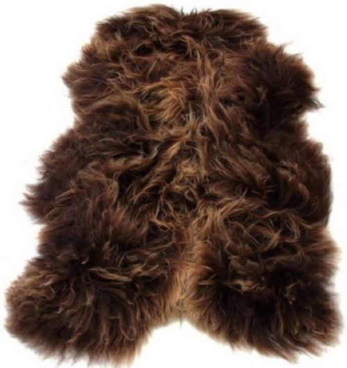 SNUGRUGS Icelandic Brown Sheepskin Rug