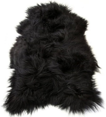 SNUGRUGS Icelandic Black Sheepskin Rug
