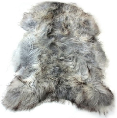 SNUGRUGS Icelandic Grey Sheepskin Rug