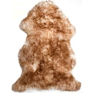 SNUGRUGS Brown Tipped Sheepskin Rug