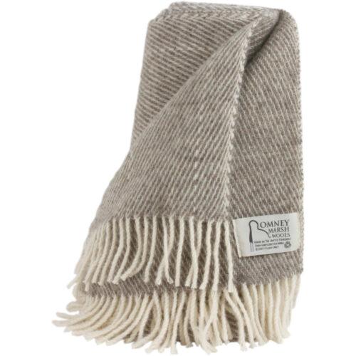 Romney Sheep Blanket / Throw - Marsh Fern