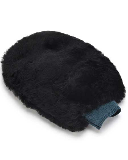 Sheepskin Polishing Mitt Black