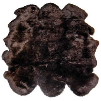 SNUGRUGS Brown Sexto Sheepskin Rug