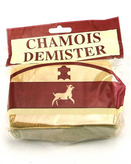 Chamois Leather Demister Pad with Plastic Wrap