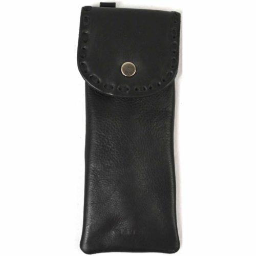 Mia - Ladies Leather Glasses Case - Black