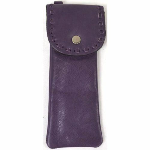 Mia - Ladies Leather Glasses Case - Purple
