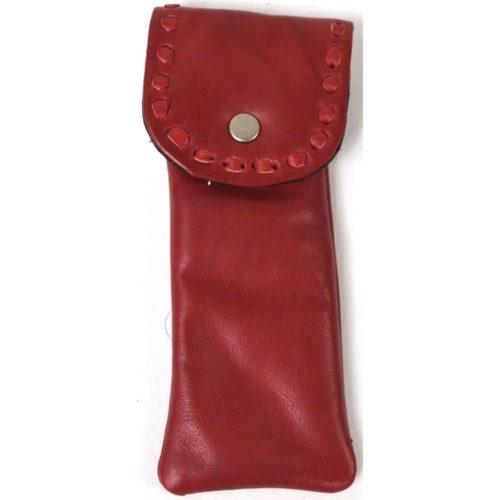 Mia - Ladies Leather Glasses Case - Red