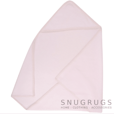 Luxury Fleece Reversible Hooded Wrap / Blanket - Baby Pink