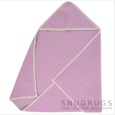 Luxury Fleece Reversible Hooded Wrap / Blanket - Lilac