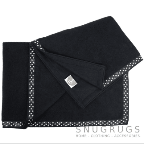 Luxury Fleece Throw / Pram Blanket - Black